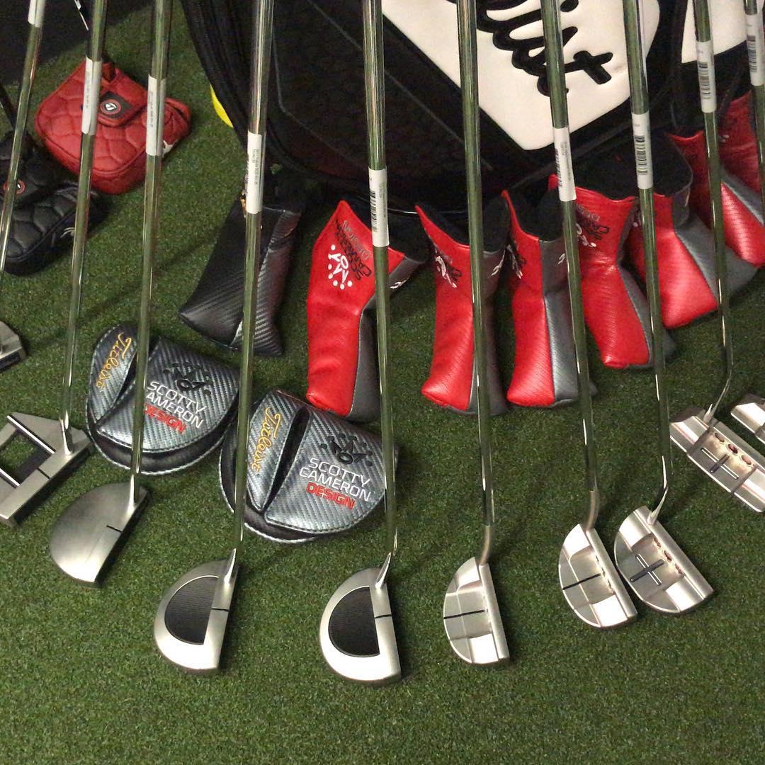 Scotty Cameron collection. #clubfitting #scottycameronputter #titleist #golf #putters #studiodesign